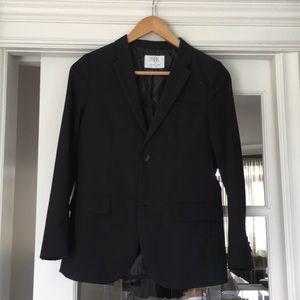 Zara black blazer boys with wool  size 11-12